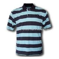Mens Striped Polo T Shirts