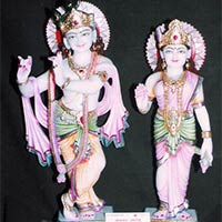 Marble Radha Krishna Yugal Statue