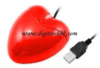 Red Heart Usb 3d Optical Mouse