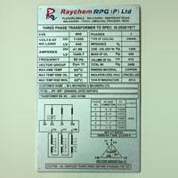 Aluminum Name Plate 04
