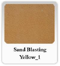 Sandblasting Yellow Marble