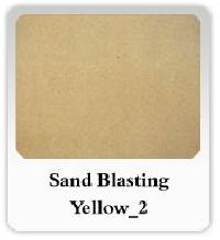 Sand Blasting Yellow Marble
