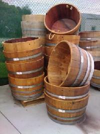 Renovated Half Wine Barrels