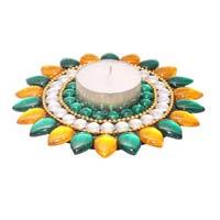 Diya Multi Colored Lotus