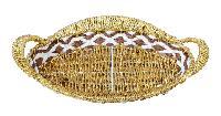 Plastic Oval Shaped Golden Basket