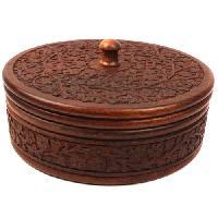 Sheesham Wooden Round Box