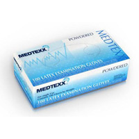 Medtexx Latex Medical Exam Pre Powdered Gloves