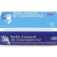 Safeguard Latex Examination Glove Powder Free Gloves
