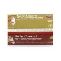 Safeguard Latex Examination Glove Powdered Gloves