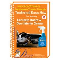 Car Dash Board & Door Interior Cleaner Formulation (eReport)