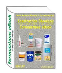 Construction chemicals formulations eBook(25 formulation ebook22)