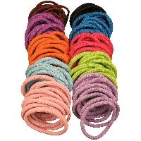 Tie Ponytail Holders Thick Mix Colors