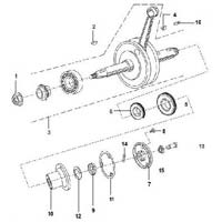 Two Wheeler Cylinder & Piston Assembly