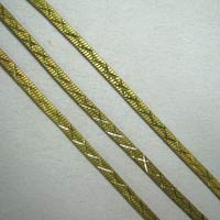 Antique Brass Herringbone Star Cut Chain