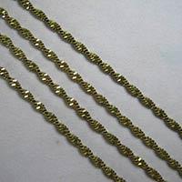 Antique Brass Herringbone Twist Chain