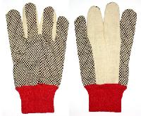 Cotton Double Side Pvc Dotted Hand Gloves