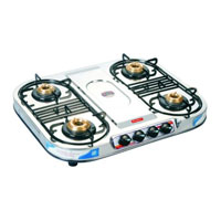 Stainless Steel Series Four Burner Gas Stove
