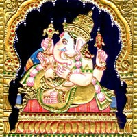 Tanjore Paintings of Ganesha