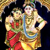 Tanjore Paintings of Radha Krishna