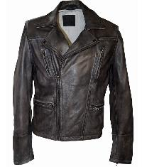 Leather Padded Jacket