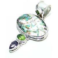 Silver Gemstones Pendants
