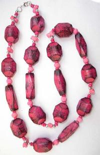 Wooden Beads Necklace-nk-942