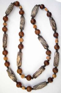 Wooden Beads Necklace-nk-956