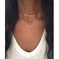 Gold Choker Necklace Silver Choker