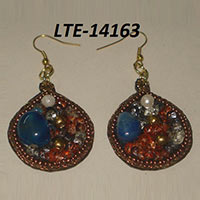 Beaded, Embroidered Earrings