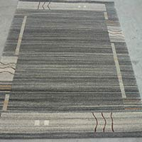 Hand Knotted Woollen Carpet - 7/18 Natural Grey