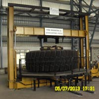 Giant Hydraulic Tyre Press