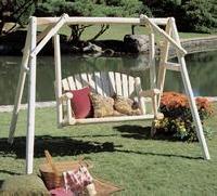 rustic cedar outdoor american garden swing swing seat swing frame - Garden Furniture Malaysia
