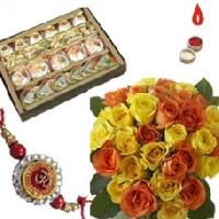 Assorted Sweets, Rakhi Roses