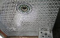 Glass Inlay Work On Ceiling
