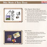 White Magnetic Notice Board