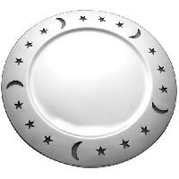 Charger Plate with Moonstar Holes