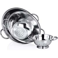 Deep Colander With Pipe Handles.