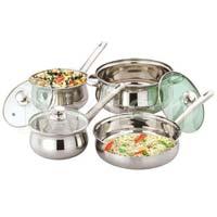 Rajwadi Cookware Set with Steel Handle