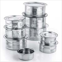 Ribbed Indian Cooking Pans