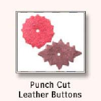 Punch Cut Leather Buttons