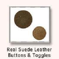Real Suede Leather Buttons