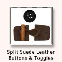 Split Suede Leather Buttons