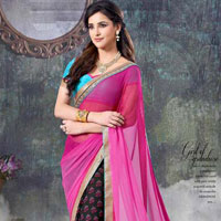 Georgette Half And Half Sarees