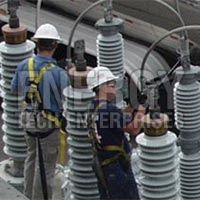 HV Bushing Transformer Erection