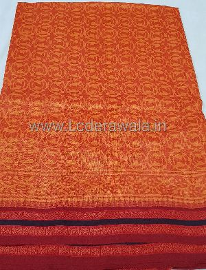 Bagru Dabu Print Vidharwa Silk Saree (With Blouse)