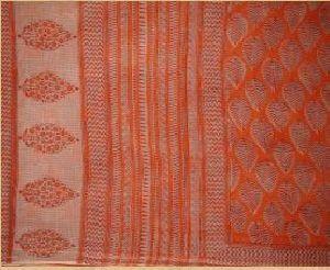 Bagru Dabu Print Kota Doria Saree