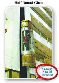 Semi Round Glass Panoramic Capsule Elevator