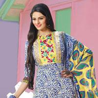 Pure Cotton Printed Designer Salwar Suits