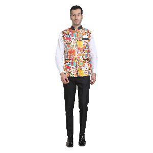 Mens Multicolor Waistcoat