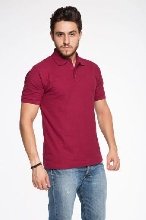 Side Slitted Mens Polo T Shirt